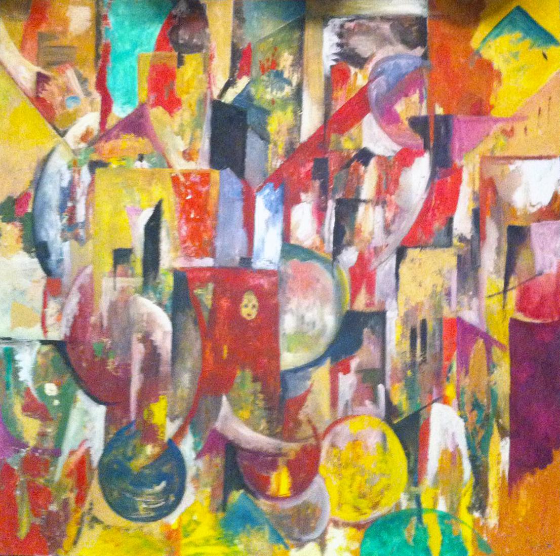 100x100, Astrattismo,Colori,Italia,Italiano,Materico,Michele Sollazzo,Olio su Tela,Pittore,Pittura Astratta,Pittura Materica,Quadro